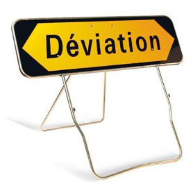 Panneau de signalisation déviation KD22A
