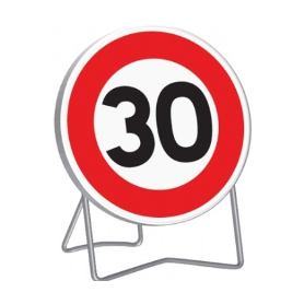 Panneau de signalisation temporaire B14 «30km/h»