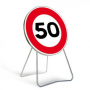 Panneau de signalisation temporaire B14 «50km/h»