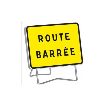 Panneau de signalisation temporaire route barrée KC1