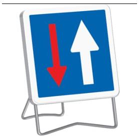 Panneau de signalisation temporaire priorité C18