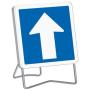 Panneau de signalisation temporaire à sens unique C12