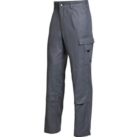Pantalon 100% coton gris