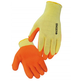 Gant paume latex orange