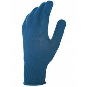 Gant picots bleu coton