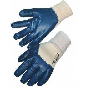 Gant nitrile bleu enduction lourde dos aéré