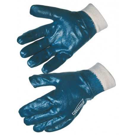 Gant nitrile bleu tout enduit enduction lourde