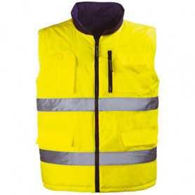 Gilet réversible haute visibilité Hi-Way jaune