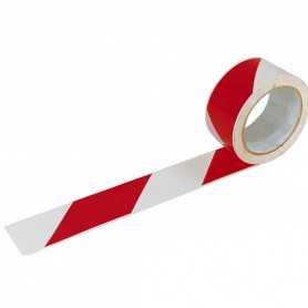 Ruban de signalisation adhésif rouge blanc