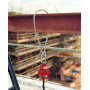 Élingue d'ancrage câble acier 1 m