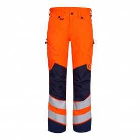 Pantalon safety HV orange marine