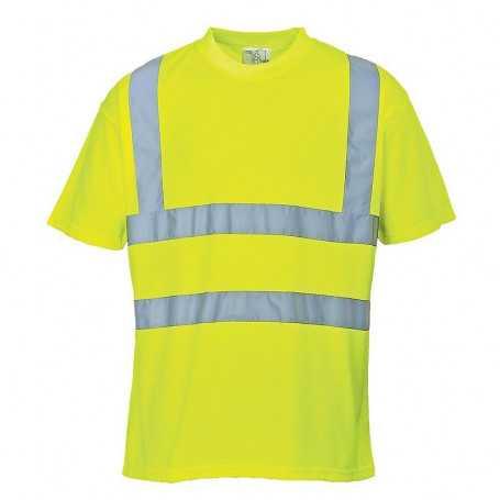 Tee-shirt haute visibilité jaune S478