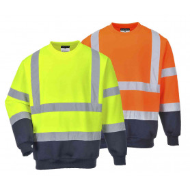 Sweatshirt bicolore haute visibilité B306