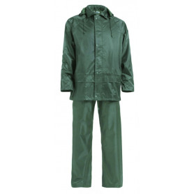 Ensemble de pluie vert polyamide