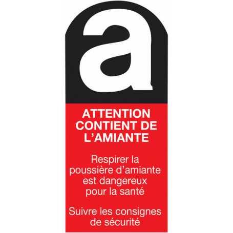 Lot étiquette amiante