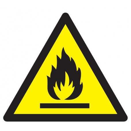 Signalétique «Danger matières inflammables»
