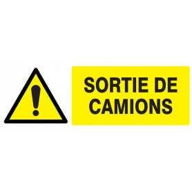 Signalétique «Danger sortie camions»