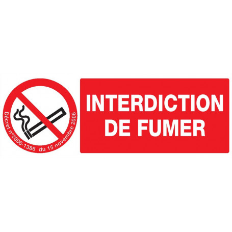 Signalétique «Défense de fumer»