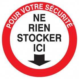 Signalétique «Ne rien stocker ici»