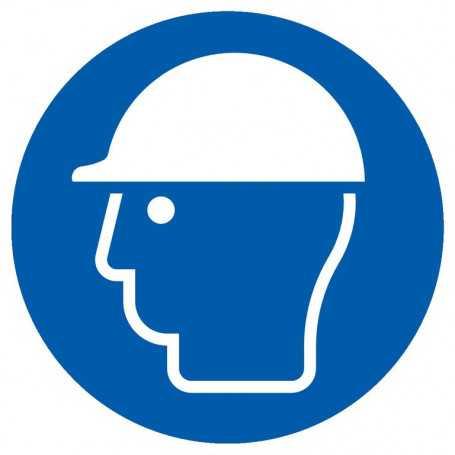 Signalétique «Port du casque obligatoire»