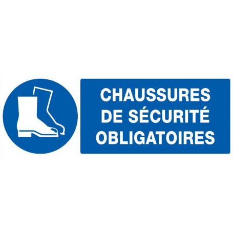 Signalétique «Port chaussure sécurité obligatoire»
