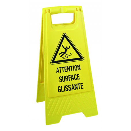 Chevalet « Attention surface glissante »