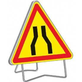 Panneau de signalisation temporaire chaussée rétrécie AK3