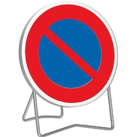 Panneau de signalisation temporaire interdit de stationner B6A1