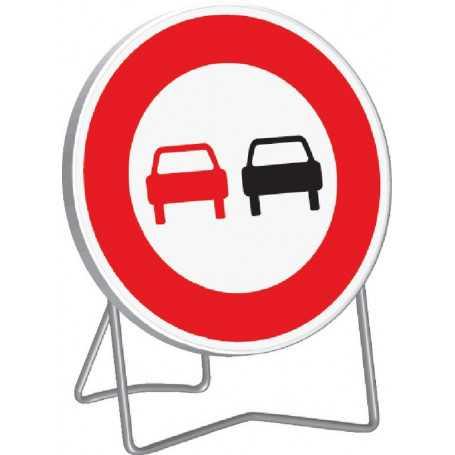 Panneau de signalisation interdiction de doubler B3