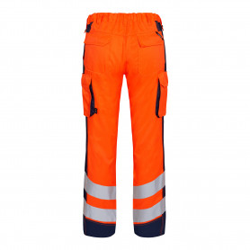 Pantalon light Safety haute-visibilité orange marine
