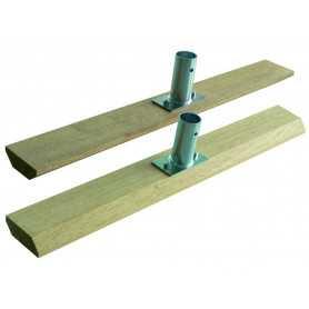 Racloir à bitume en bois