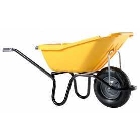 Brouette pick-up jaune roue gonflée